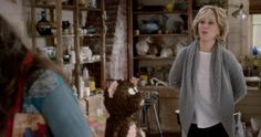 Eddie Bauer Women's Cable Sleep Cardigan inspired by Grace Hanson in Grace and Frankie Season 2 Episode 12 | TheTake