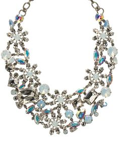Necklace - Glamorous! in White Bridal by Sorrelli - $580.00 (http://www.sorrelli.com/products/NBT56ASWBR)