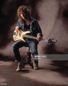 Portrait of Kip Winger of the band Winger, Chicago, Illinois, March 11, 1989.
