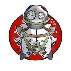 Mécanique Sociale : Robot Tom Design Graphique, Robot, Toms, Anime, Art, Flower, Art Background, Kunst, Cartoon Movies