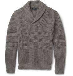 Incotex Zanone Zig-Zag Knit Wool and Yak-Blend Sweater | MR PORTER
