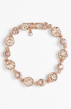 Such a dainty rose gold crystal bracelet.