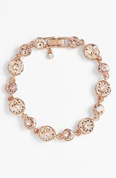 Such a dainty rose gold crystal bracelet.