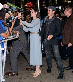"""Angelina Jolie and Debby Ryan in Stuart Weitzman """"Heist"""" Pumps"""