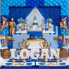 trendy ideas for baby boy shower themes blue dessert tables Royalty Baby Shower Theme, Boy Baby Shower Themes, Baby Shower Fun, Baby Shower Decorations, Prince Birthday Theme, Baby Boy 1st Birthday Party, King Birthday, Little Prince Party, Royal Baby Showers