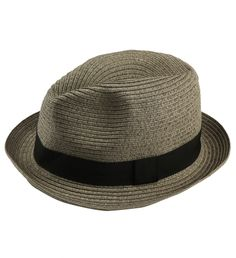 Straw Fedora Hat by John Varvatos $85 | From Frank Sinatra to Johnny Depp, the classic fedora is back in a big way. John Varvatos' version is perfectly proportioned and timeless, making it easy to throw on with almost anything. Embody this urban look in the city or on the road. | GOTSTYLE.CA