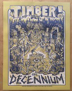 DECENNIUM screenprinted poster