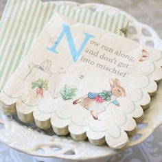 """Peter Rabbit Party 5"""" Napkins by Beau-coup"""