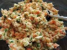 Farmersalat aus dem Thermomix - oder einer normalen Küchenmaschine. Kann LowCarb angepasst werden.