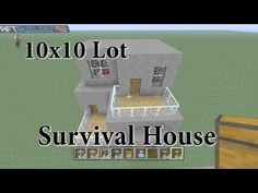 Minecraft 10x10 Lot Survival House