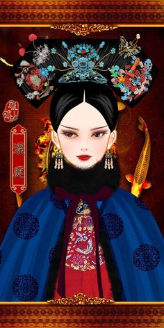 Chinese Style, Chinese Art, Chinese Fashion, Gray Aesthetic, Qing Dynasty, Creative Pictures, Disney Characters, Fictional Characters, Oriental