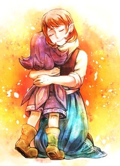Day 7: Favorite video game couple: Anju and Kafei from The Legend of Zelda: Majora's Mask. These two. THESE FREAKING TWO. Better than Zelink and actually canon, we have this couple who loved each other so much that they would have sat through the end of the world together. I just... Anju and Kafei man.