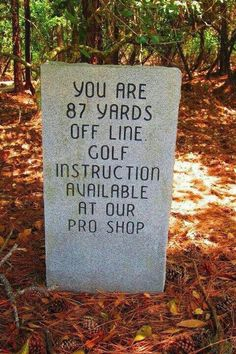 Check the golf instruction book