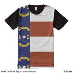 North Carolina, flag All-Over Print T-Shirt