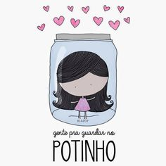 Feminices: As ilustrações (fofas) da Bia Pof Illustration Mignonne, Cute Illustration, Bff, Portuguese Quotes, Quotes About Everything, Magic Words, Love Messages, More Than Words, Illustrations