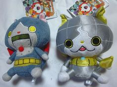 New Dianyan Robonyan Yokai Watch Plush Stuffed Doll 2pcs Set BANDAI JAPAN F/S