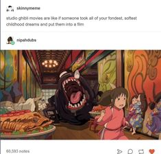 Spirited Away Miyazaki films Studio ghibli Studio Ghibli Art, Studio Ghibli Movies, Studio Ghibli Quotes, Studio Ghibli Characters, Manga Anime, Anime Art, Cult, Girls Anime, Manga Girl