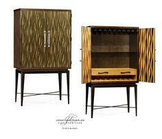 Chestnut drinks cabinet with textured bronze antique rub-through doors #JCmodern #jonathancharles #jonathan_charles_russia #jonathancharlesrussia #jonathancharlesfurniture