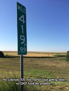 Mile Sign Fixed