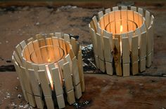 How to Make Candles at Home   ... little post on how you can turn pegs into candle holders and pots