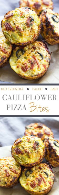 for all you califlower tater tot fans. . .Cauliflower Pizza Bites - SO EASY, customizable, and kid friendly! Make mini versions for a fun paleo appetizer!