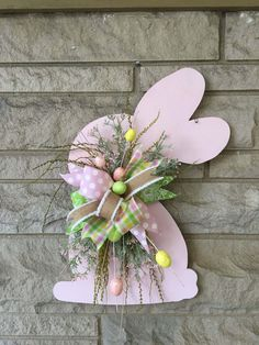 Pale Pink Wooden Rabbit Cutout