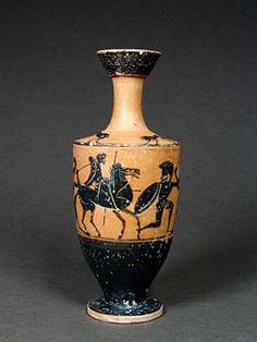Όστρακο Αρχαία Τέχνη, αττική μελανόμορφη λήκυθος της Μικρής-Lion-Class, ca. 500…