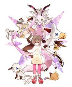 Kari, Light <3 Pokemon, Manga Pictures, Cute Pictures, Digimon Tattoo, Digimon Wallpaper, Gatomon, Digimon Frontier, Digimon Tamers, Digimon Digital Monsters