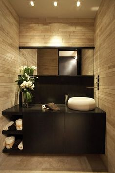 Bathroom/Powder Room - Modern, clean lines, good choice of elements.