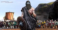 Ireland, Battle of Clontarf between the Vikings and the Irish of Brian Boru, 1014. Raffaele Caruso