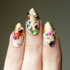 """""""Some up-close ridiculousness."""" Lady Crappo. #nailart"""