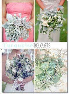 Svenska Blomsterbloggar: 4 Turkosa Buketter // 4 Turquoise Bouquets