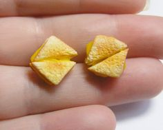 Grilled Cheese Miniature Food Jewelry Earrings,Handmade Jewelry Earrings (can also be made into cufflinks),Mini food Jewelry,Handmade on Etsy, $17.26