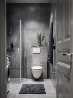 interior Home depot porta do banheiro Bathroom Design Luxury, Modern Bathroom Design, Interior Design Kitchen, Small Bathroom Interior, Laundry In Bathroom, Small Bathroom Inspiration, Future, Videos, Modern Bathrooms