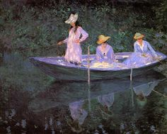 Monet, La Barque at Giverny- Oh if only I could paint like this!