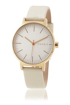 'Nelly Cream Gold' pure and classy watch by #Esprit