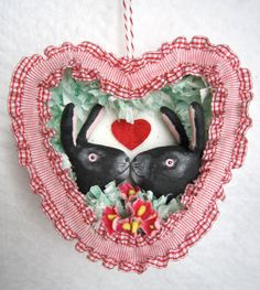 Spun Cotton Ornament  Valentine  Valentine by MariePattersonStudio