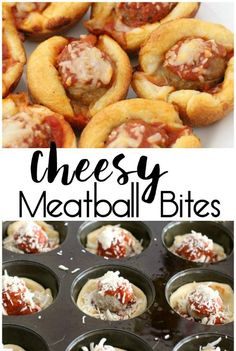 Cheesy Meatball Bites made with crescent dough, meatballs, marinara sauce and lots of cheese! Easy perfect for parties & game day. appetizers recipes CHEESY MEATBALL BITES - Butter with a Side of Bread Snacks Für Party, Appetizers For Party, Appetizer Recipes, Snack Recipes, Cooking Recipes, Dinner Recipes, Finger Food Recipes, Finger Foods For Kids, Halloween Appetizers