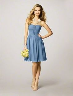 Alfred Angelo Blue Style 7143 Dress $115