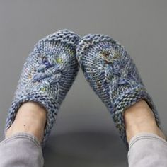 Mine knitted slippers pattern - a perfect cozy project to wear around the house!