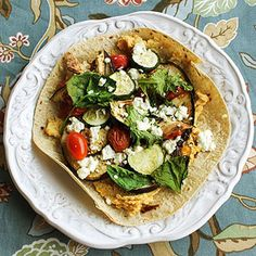 Hummus and Roasted Veggie Pizza: Easy and Healthy lunch recipes from @Gina Gab Solórzano Gab Solórzano Gab Solórzano Harney