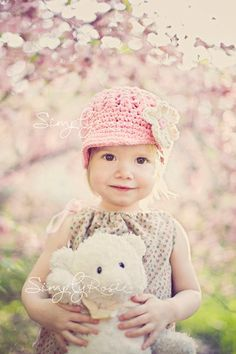 Little Girls Hats Crochet Girls Hat Newsboy by PBlossomBoutique