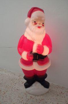 70s Light Up Santa / Santa Christmas Decoration /  Blow Mold Carolina Enterprises 1973 / 22 inches high