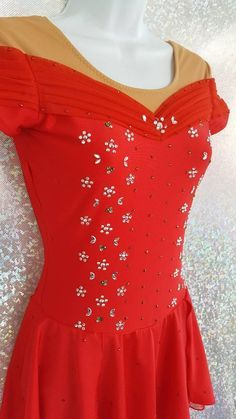 Figure Skating Outfits, Figure Skating Costumes, Figure Skating Dresses, Dance Outfits, Dance Dresses, Contemporary Dance Costumes, Rave Costumes, Beautiful Costumes, 4 Way Stretch Fabric