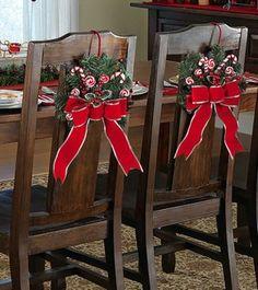 Bonitas fundas navideñas para sillas