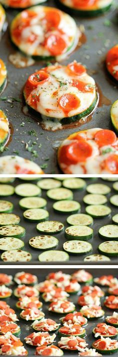 5 ingredient Zucchini Pizza Bites - Healthy, nutritious pizza bites that come together in just 20 minutes #healthy #appetizer #zucchini