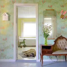 #wallpaper #osborne&little #pattern #home #homedecor #swedishdesign #wallart
