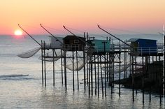 Carrelets Cap Ferret, Sea Photo, Aquitaine, Vineyard, Arch, Coast, Around The Worlds, France, Sunset
