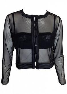La Perla Tulle Nervures Jacket @laperla #laperla #readytowear #teddiesforbettys #lingerie #luxurylingerie #shoplingerie
