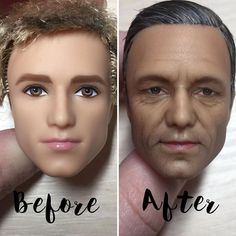 The Doll-Maker Who Transforms Dolls Into Realistic Faces By Repainting Them - Slydor - Your Daily Dose Of Fun. Realistic Dolls, Realistic Paintings, Vintage Barbie, Doll Face Paint, Human Doll, Photoshop, Doll Repaint, Monster High Dolls, Doll Maker